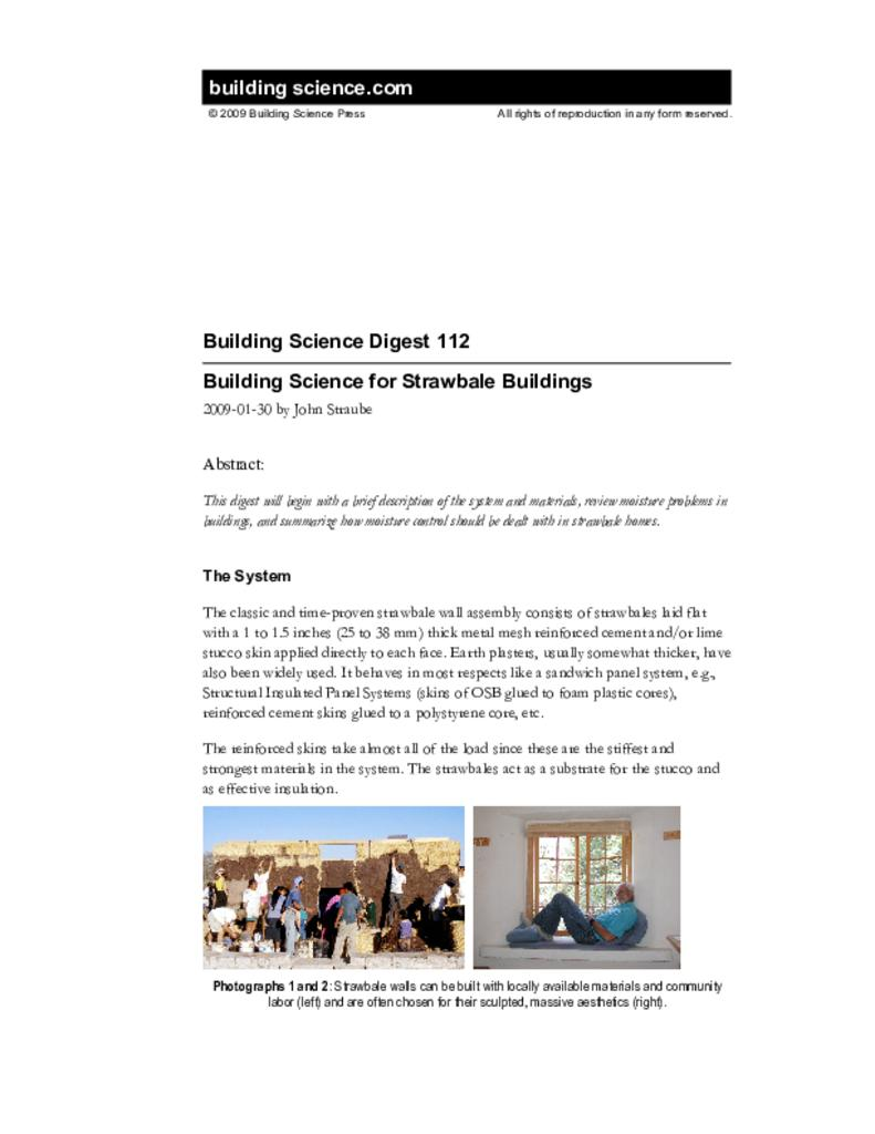 Bsd 112 Building Science For Strawbale Buildings Bale King Wiring Diagram