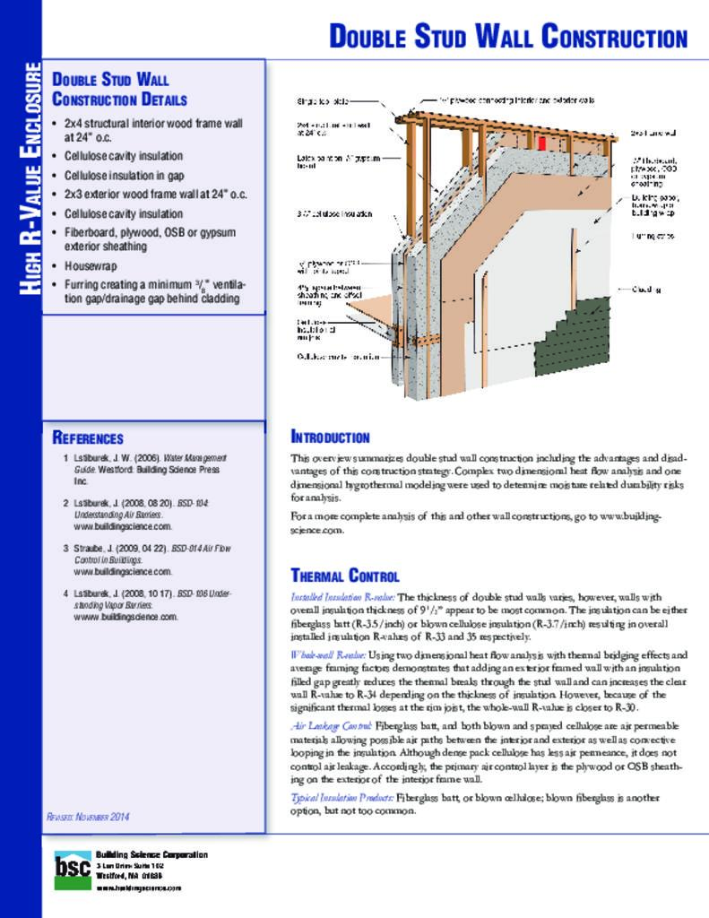 High r value wall assembly double stud building science for High r value windows