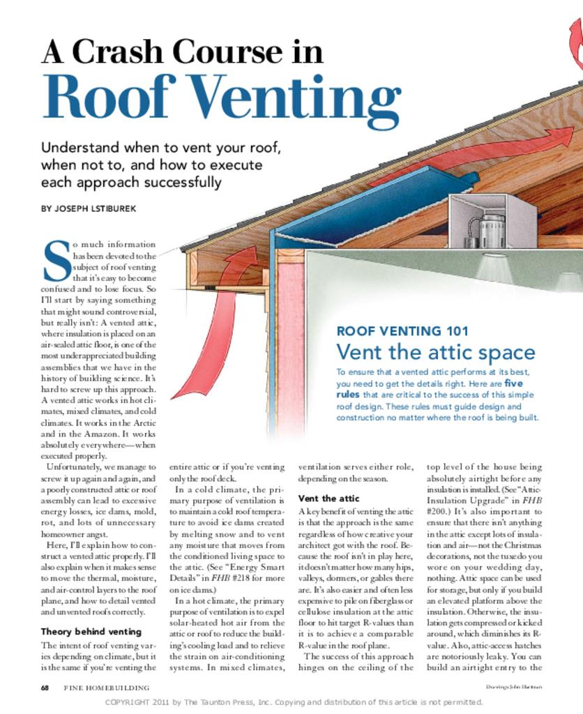 Roof Vent Chutes Amp Ex Amp Le Of Air Chutes Installed At The