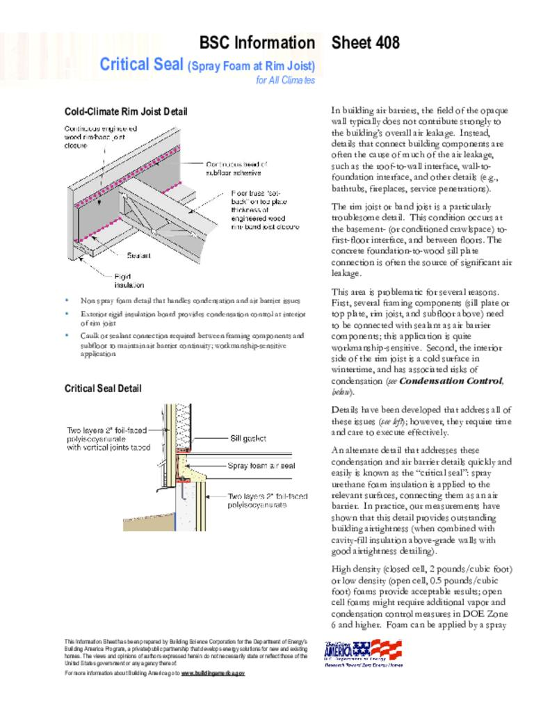Info 408 Critical Seal Spray Foam At Rim Joist Building Science Rims Control Panel Circuit Diagramjpg