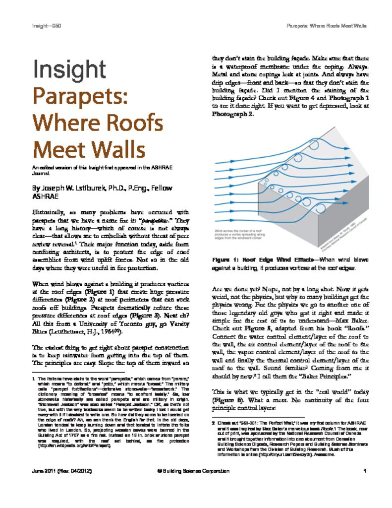 BSI-050 Parapetsu2014Where Roofs Meet Walls  sc 1 st  Building Science Corporation & Parapets u2013 Where Roofs Meet Walls | Building Science memphite.com