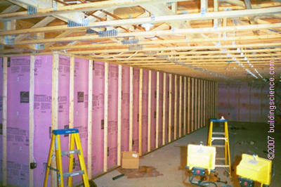 Photo_04: Rigid insulation/frame wall under construction