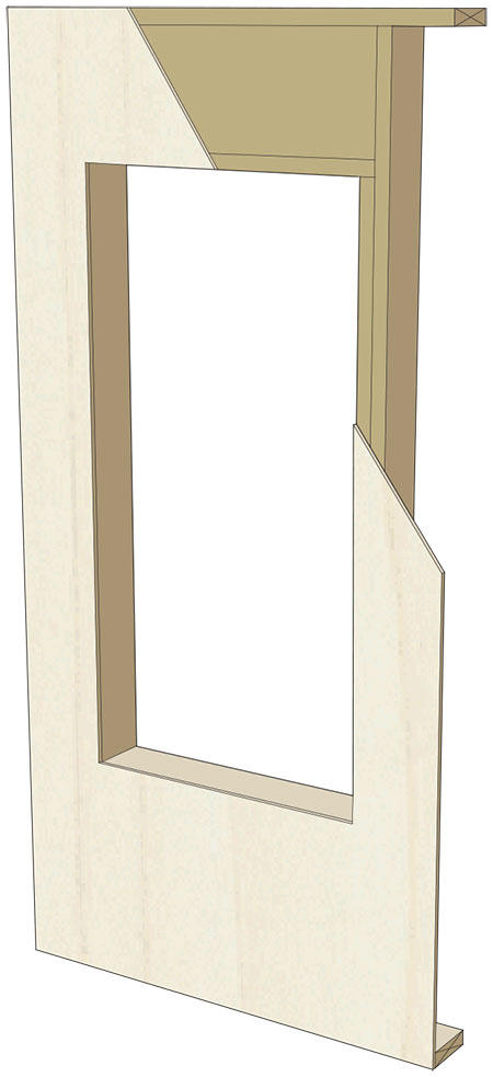 Wood Frame Wall rr-0407: installing a window with building paper on osb over wood
